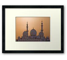 The White Domes Framed Print