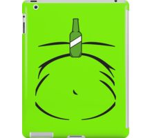 Beer Belly Fun Green Bottle Balancing on Stomach iPad Case/Skin
