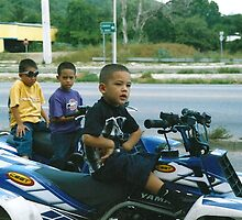 Boys on Yamaha Motorbikes - Ponce, Puerto Rico by SylviaS