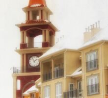 Tower Clock at Tremblant Sticker