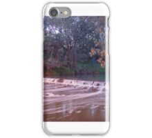 Murray River with Weir Flowing iPhone Case/Skin