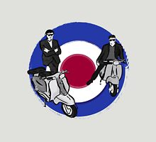 Scooter Boys on Mod Target Unisex T-Shirt