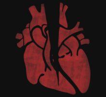 Broken Heart - Red One Piece - Short Sleeve