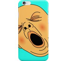 Yawning Baby Bald Man Bored at Work iPhone Case/Skin
