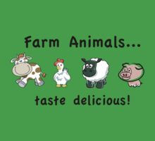 Farm Animals Taste Delicious Kids Clothes