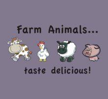 Farm Animals Taste Delicious Kids Clothes