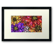 Sketch Garden Framed Print