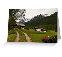 Rural Idyll in Alps Greeting Card