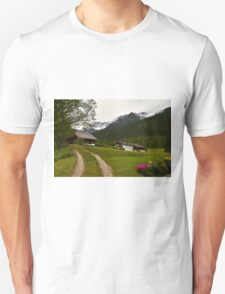 Rural Idyll in Alps Unisex T-Shirt
