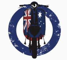 Retro Scooter with Aussie flag decals T-Shirt