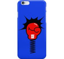 Comic Book Boxing Glove on Spring Pow iPhone Case/Skin