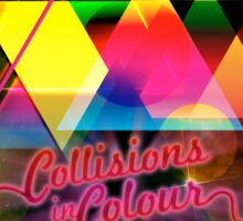 Collissions in Color Art Poster Sticker
