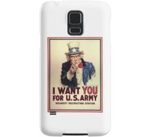 America, I Want You! Uncle Sam Wants You, USA, War, Recruitment Poster Samsung Galaxy Case/Skin