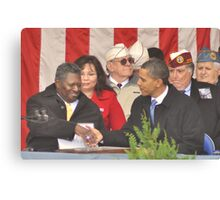 Giving thanks to Americas Hero's Canvas Print