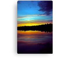 The Sun Sets Canvas Print