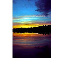 The Sun Sets Photographic Print