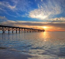 Sunset at Grange Jetty by Dale Allman