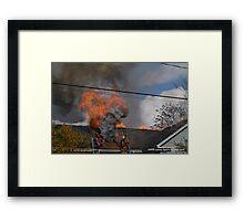 Fire at Marysville Elementary School Framed Print