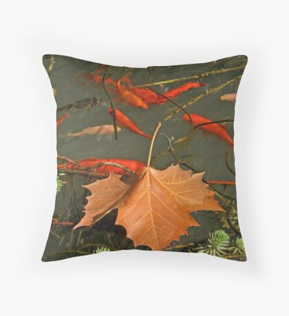 Above and Below the Surface Throw Pillow