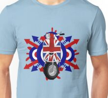 Retro sixties style scooter art Unisex T-Shirt