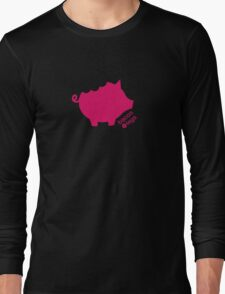 Take a Bite Out of Pig (Pink)  Long Sleeve T-Shirt