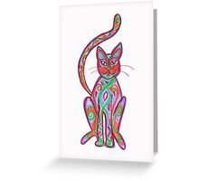 coloured cat Greeting Card