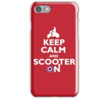 Keep Calm and Scooter On iPhone Case/Skin