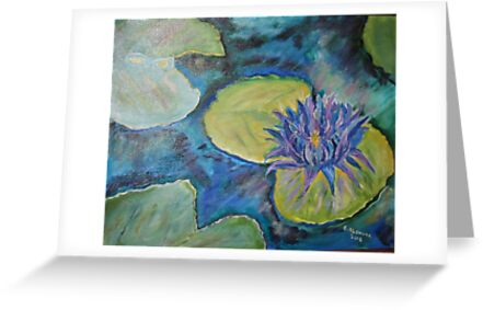 Purple Hawaian Lotus16x20 acrylic on canvas by eoconnor
