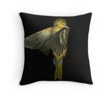 Bird That Flew Into the Window Throw Pillow