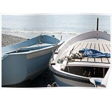 Boats in Monterosso Poster