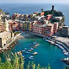 Vernazza, Cinque Terre, Italy by Cathy Cormack