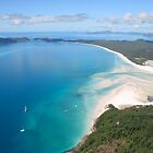 Aerial view of Whitehaven Beach, Queensland, Australia by Deb22