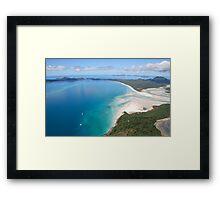Aerial view of Whitehaven Beach, Queensland, Australia Framed Print