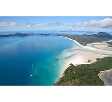 Aerial view of Whitehaven Beach, Queensland, Australia Photographic Print