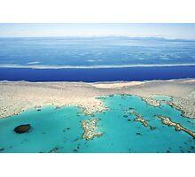 Great Barrier Reef pontoon, Queensland, Australia Photographic Print