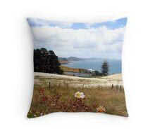 Field of flowers, Tasmania, Australia Throw Pillow