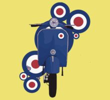 Blue scooter on roundels One Piece - Short Sleeve