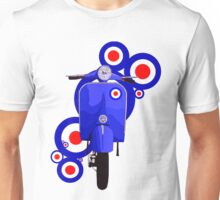 Blue scooter on roundels Unisex T-Shirt