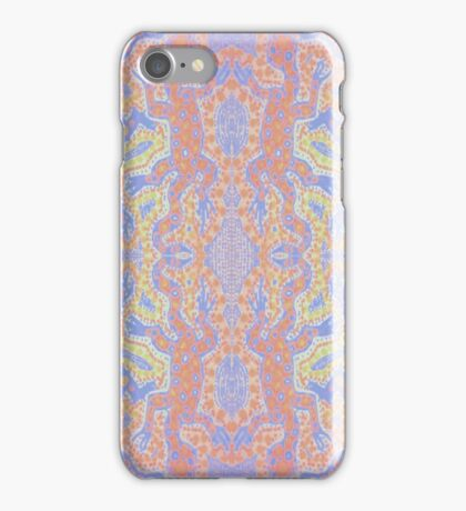 Fluorescent Pastel Aborigine iPhone Case/Skin