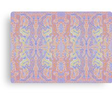Fluorescent Pastel Aborigine Canvas Print