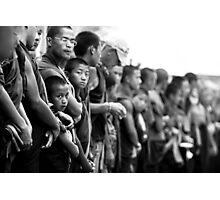 Boy Monk in Line - Tibetan Faces Photographic Print