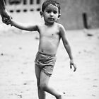 Boy in the rain - Goan Faces by Chinua Ford