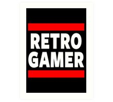 Retro Gamer Art Print