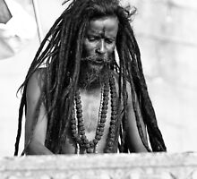 Baba on The Ghats - Varinassi Faces by Chinua Ford