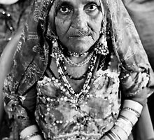 Gypsy Grandmother with Jewelry by Chinua Ford