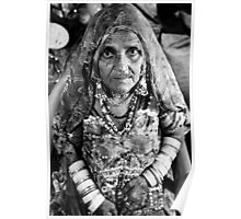 Gypsy Grandmother with Jewelry Poster