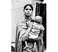 Woman with child Photographic Print