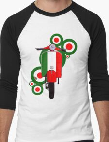 Italian decal scooter on roundals Men's Baseball ¾ T-Shirt
