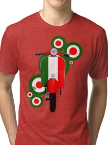 Italian decal scooter on roundals Tri-blend T-Shirt
