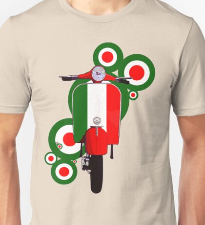 Italian decal scooter on roundals Unisex T-Shirt